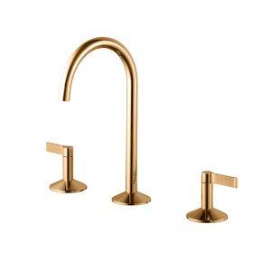 Batería lavabo 3 piezas Lignage Luxe Oro Noken