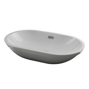 Lavabo 59.5x36 cm. encastre con rebosadero Forma Oval Noken